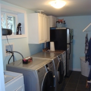 Laundry Room in a Basement